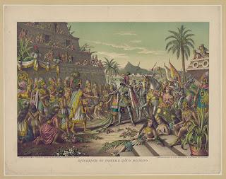 Encuentro de Moctezuma y Cortés