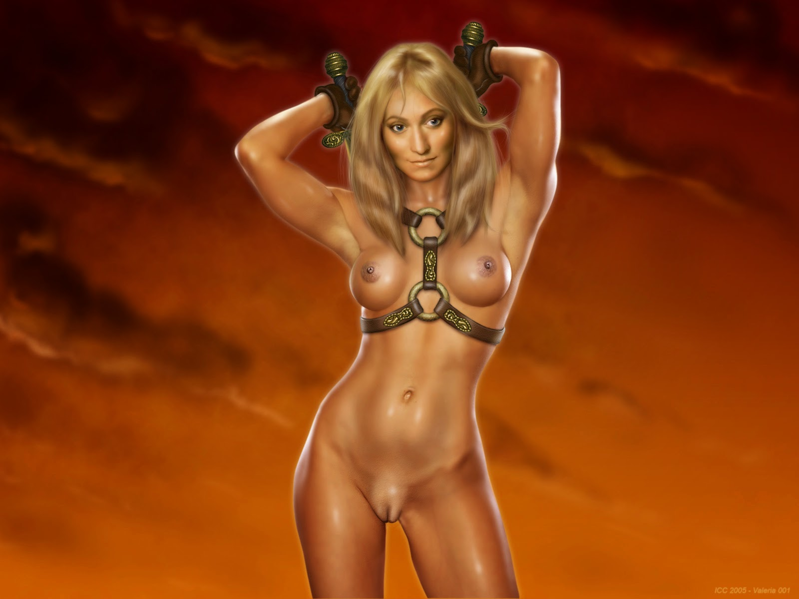 Barbarian women topless sexy movie
