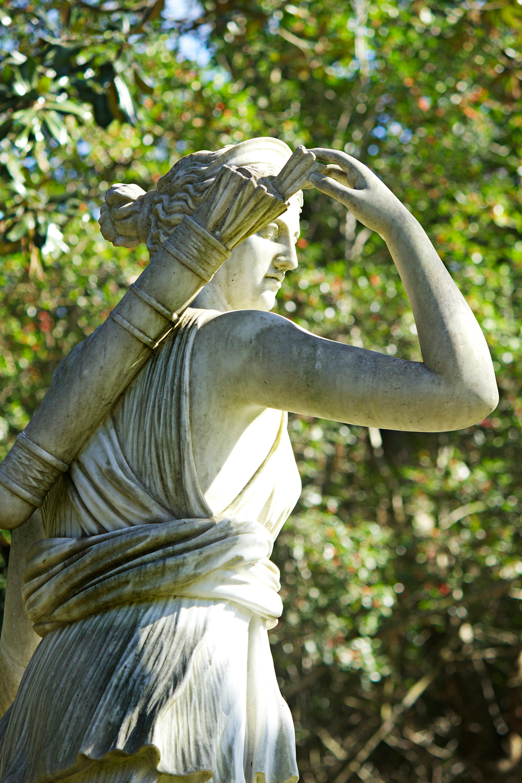 athena statue at bayou bend houston - photo copyright Allison Beth Cooling