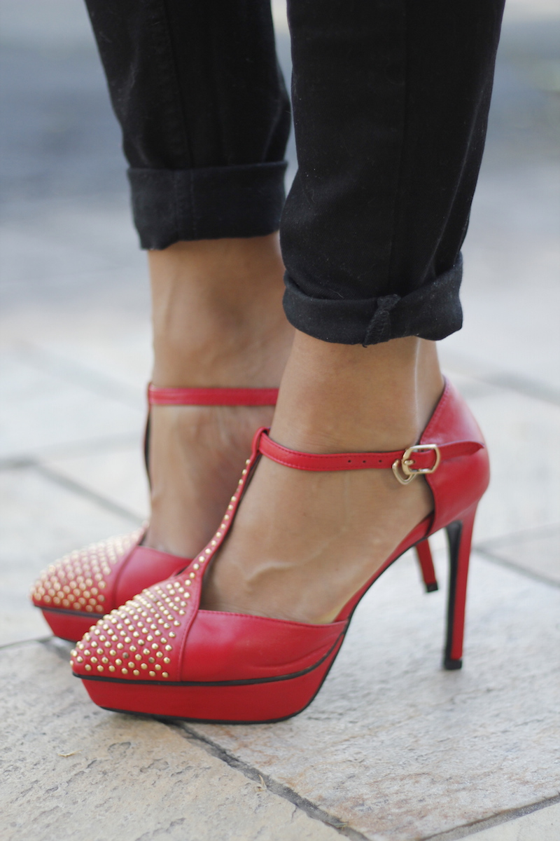 ysl red shoes