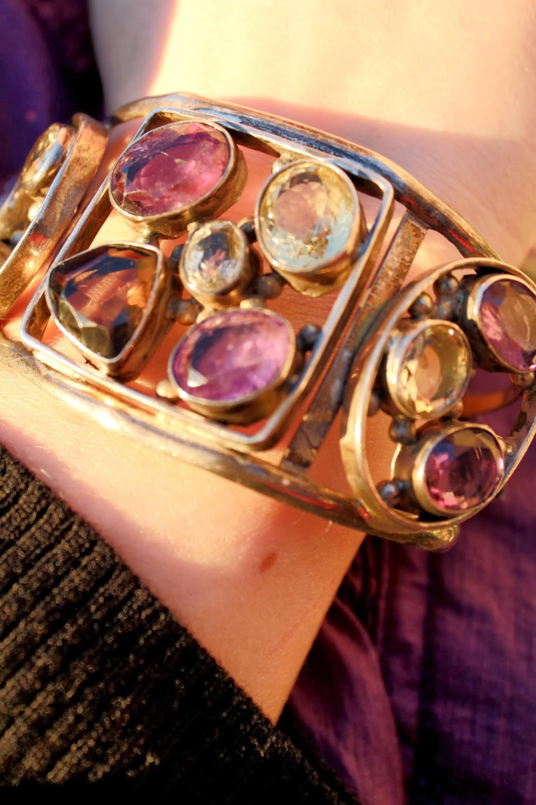 amethyst bracelet, bracciale d'ametisto