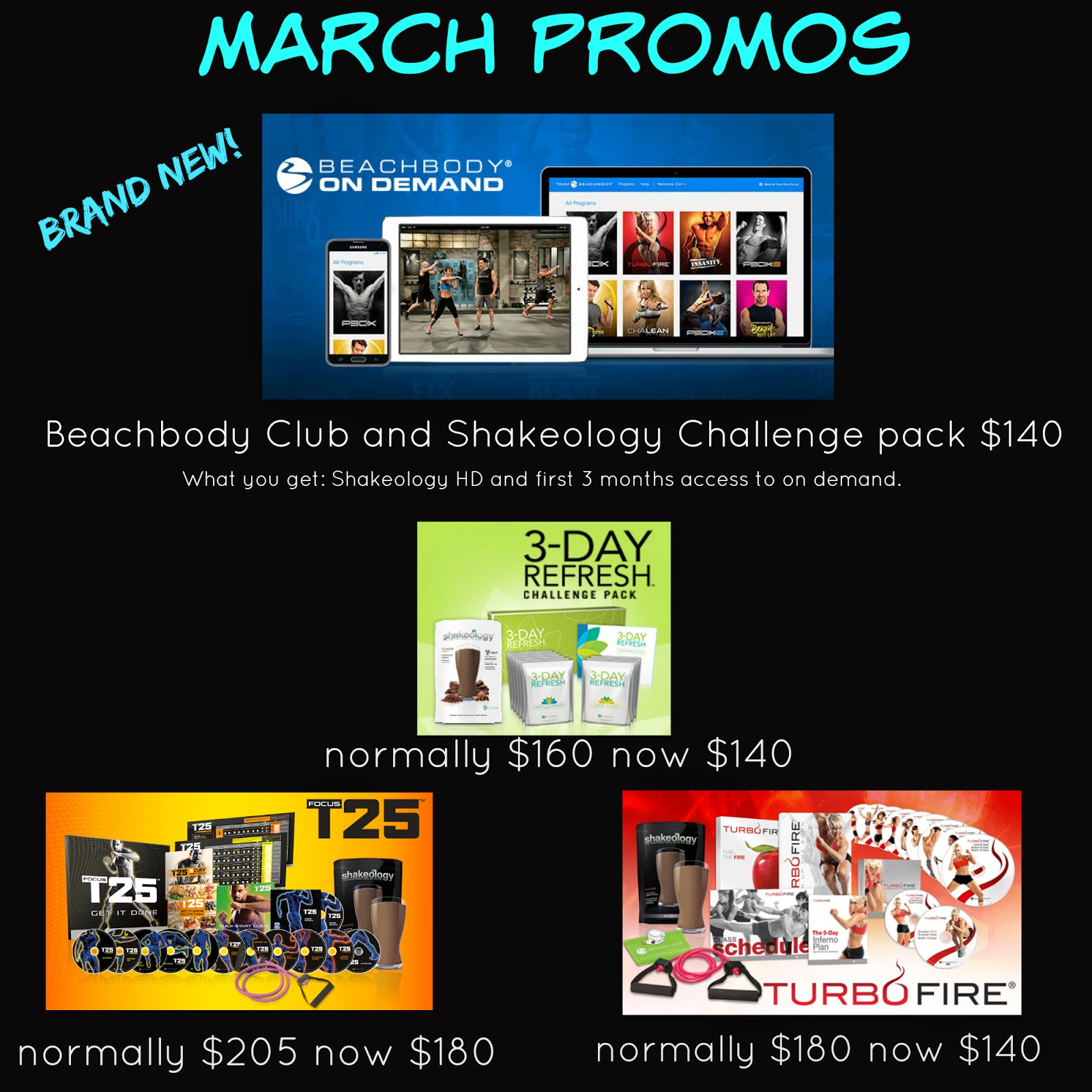 beachbody sales, beachbody discounts, March, T25, Turbofire, 3 day Refresh