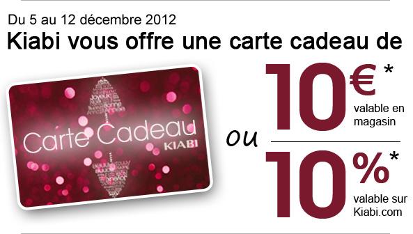 Kiabi offre une carte de 10€ dès 40€ d'achat