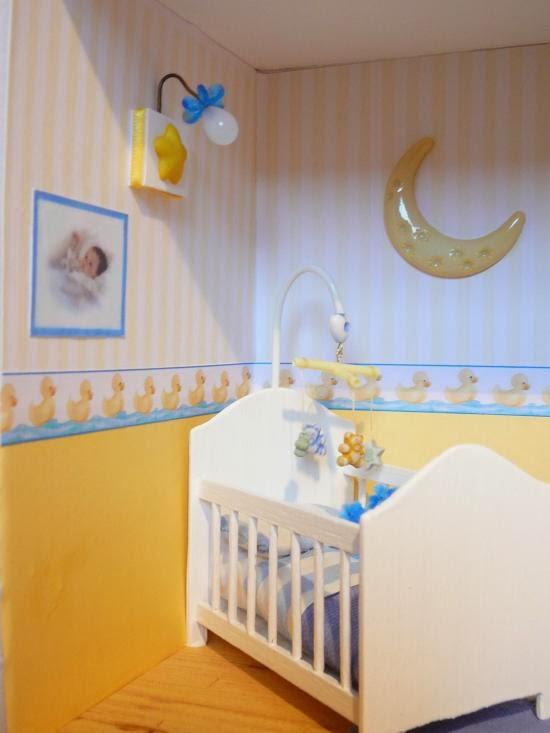 Dormitorios para bebés en celeste y amarillo - Dormitorios colores ...