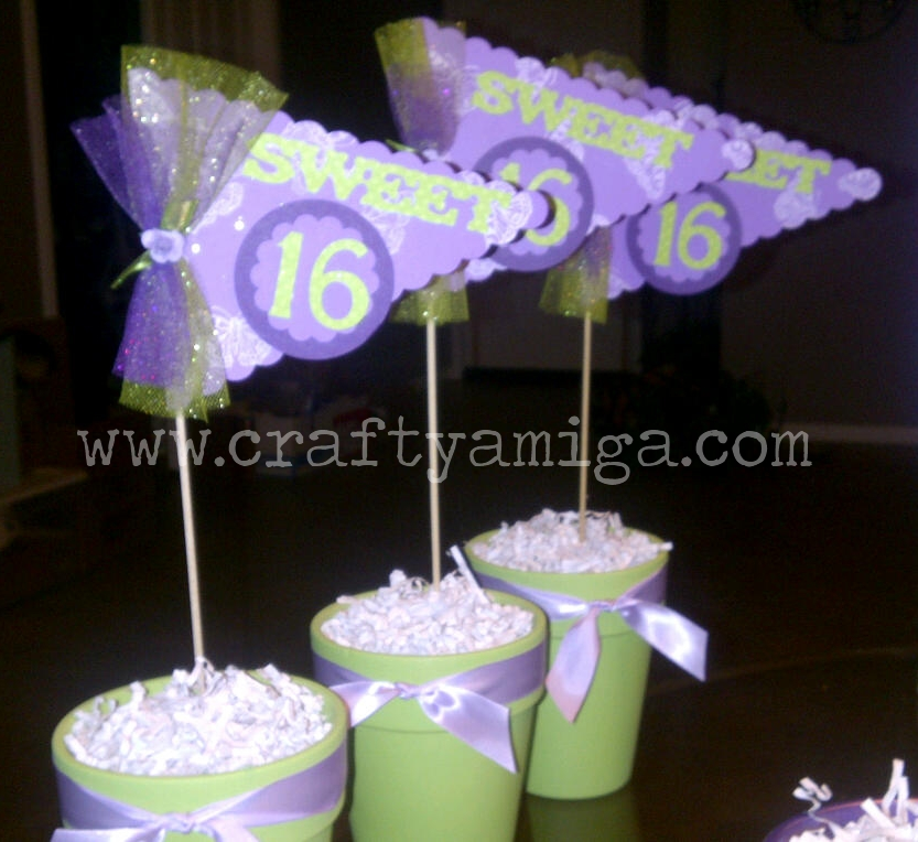 Sweet 16 Centerpieces