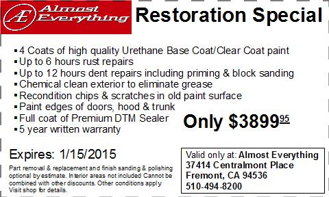 Coupon Auto Restoration Special December 2014