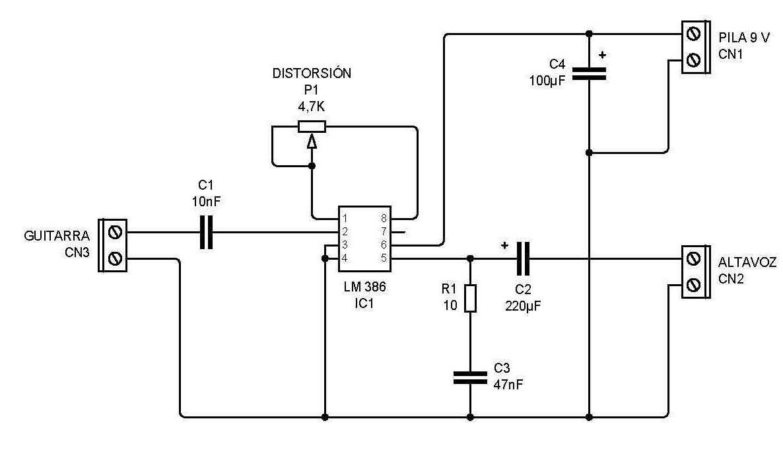 Margtecnologa Proyecto N 5 Pequeo Amplificador Con Lm 386 Tea2025 Powerdip Stereo Application Circuit Diagram And Datasheet