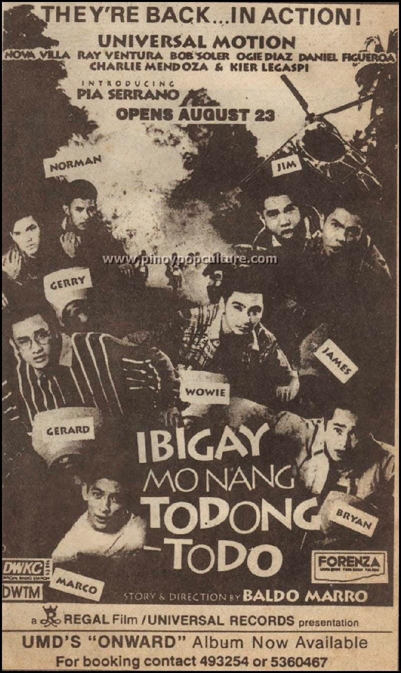 Ibigay Mo Nang Todong-Todo,  movies, Universal Motion Dancers, UMD