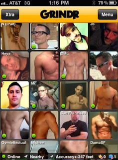 Grindr mobile phone app screenshot.