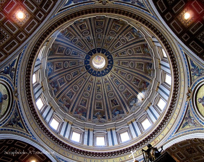 The dome of St Peter's Basilica Vatican City