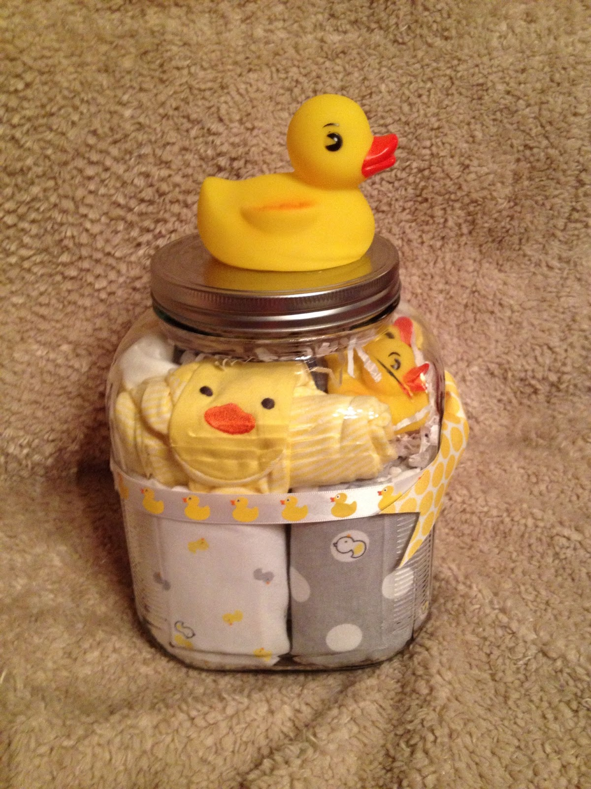 Duckies Baby Shower Gift Jar | Lauren Graham