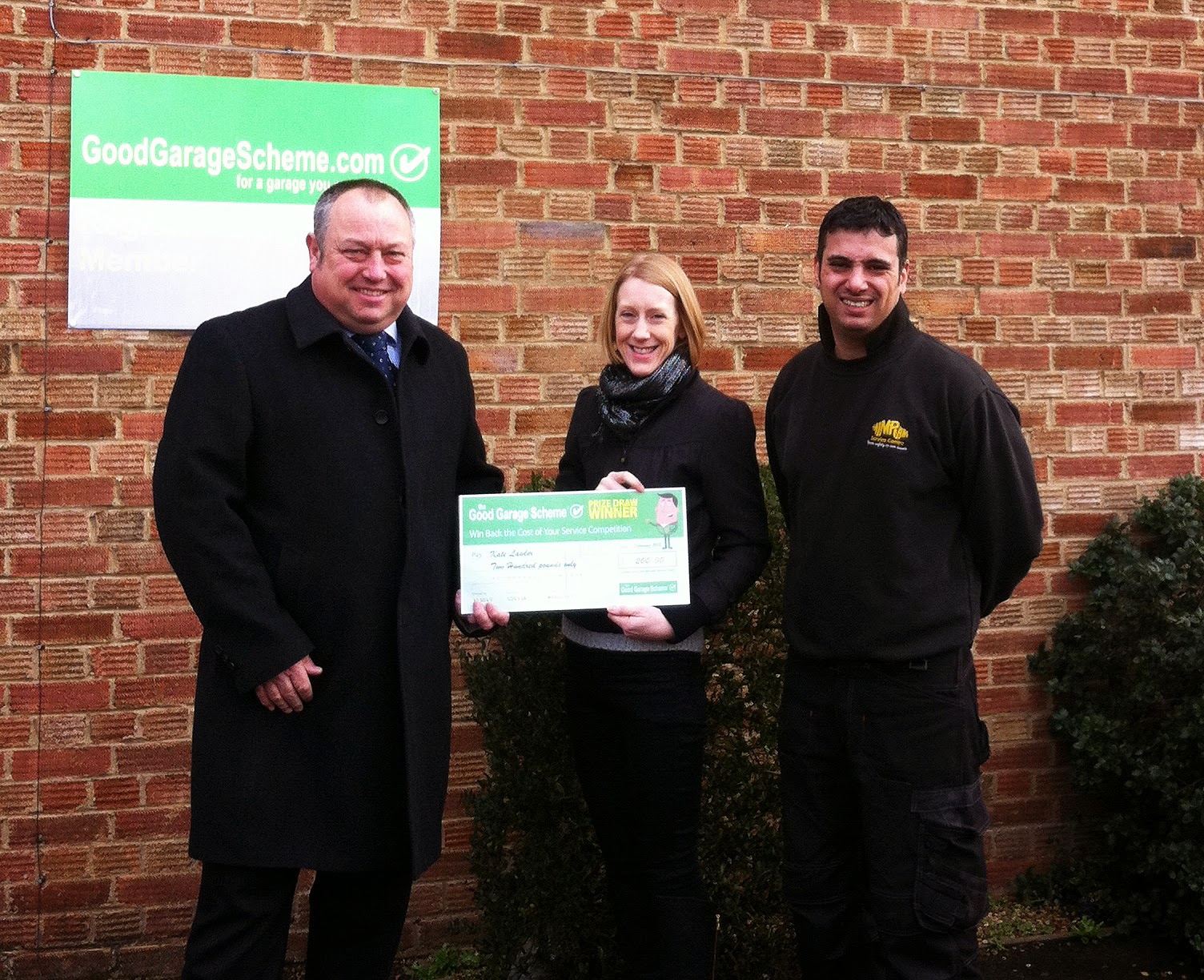 Good Garage Scheme, Feedback prize, winner, Kate Lawlor, Mimram Service Centre