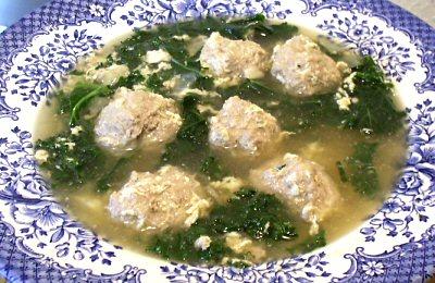 Italian Egg Drop Soup with Meatballs