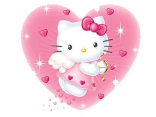 Hello Kitty Malaikat - Love