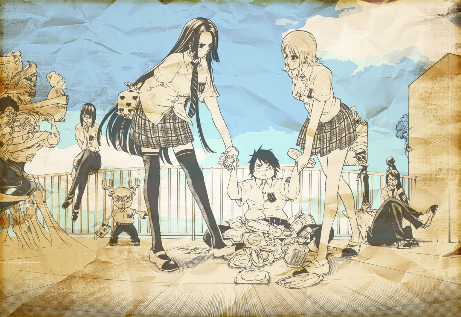 One Piece HD & Widescreen Wallpaper 0.667436138065222