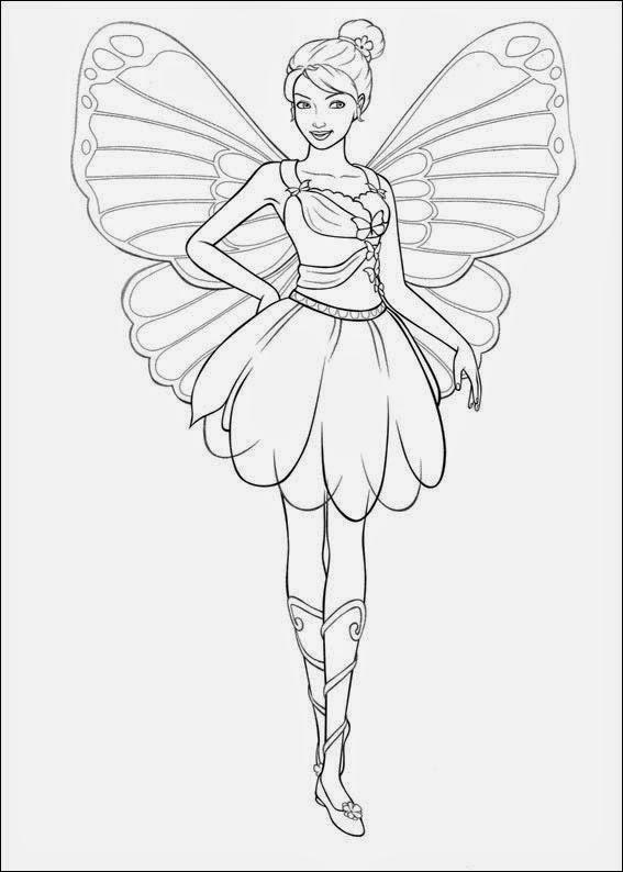 Disegni da colorare di barbie for Cosmog coloring pages