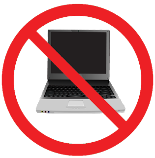 no computers allowed sign