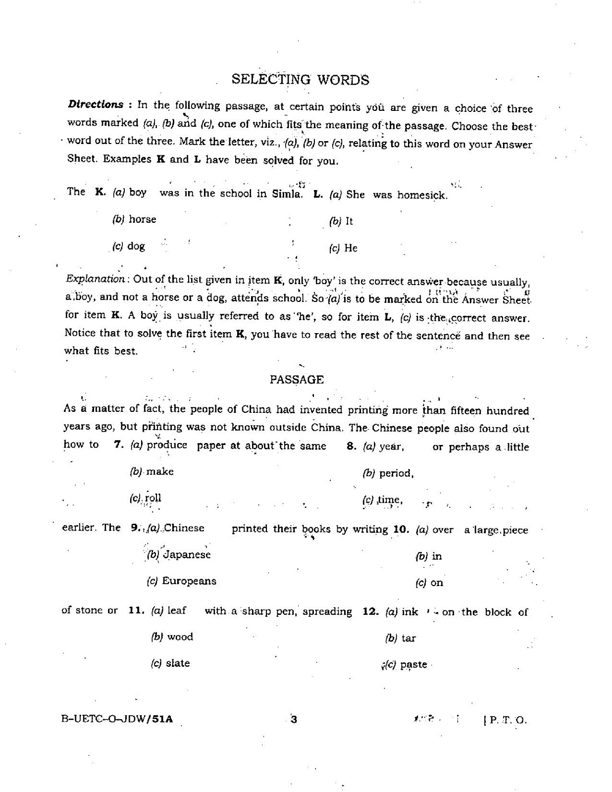 UPSC 2015 General Ability Test Question Paper