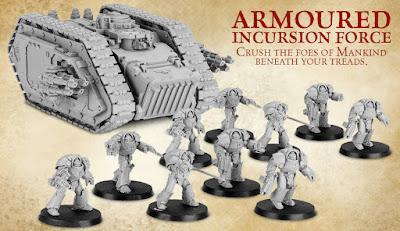 Transporte Spartan y diez exterminadores en armadura clase Tartaros