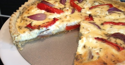and stir well: Goat's Cheese, Red Onion and Pepper Tart