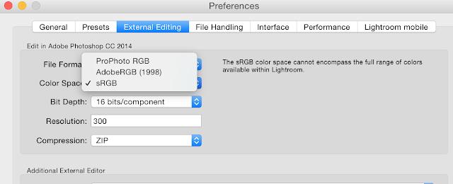 การปรับ Color Space ใน Lightroom CC ให้แสดงสีแบบ sRGB