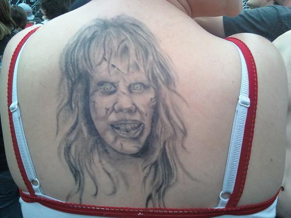 filmes, tatuagens, imagens, cinema, o exorcista, 25 tatuagens baseadas em filmes, arte corporal cinematográfica, eu adoro morar na internet