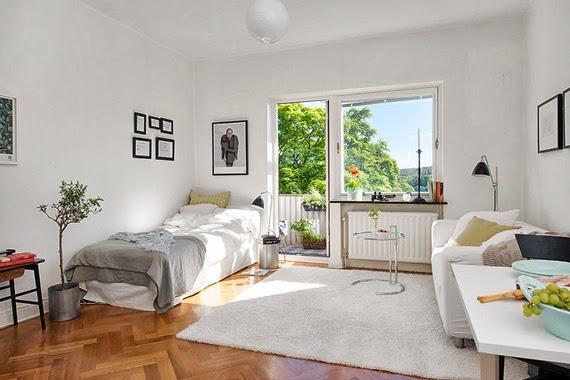 apartamento pequeno - solução para pouco espaço - preto e branco na decoração - sala de jantar pequena