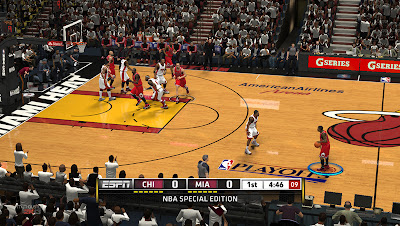 NBA 2K13 Miami Heat vs Bulls Court Playoffs Patch