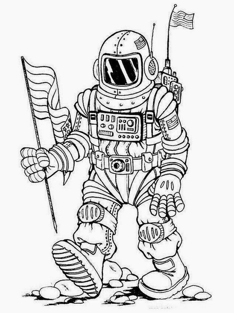 astronaut colouring pages realistic coloring pages