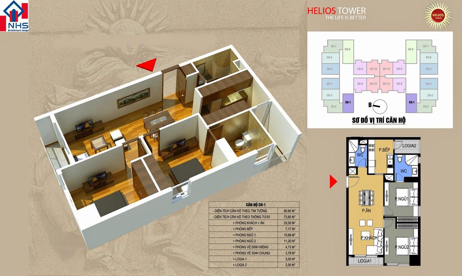 Căn 01 Helios Tower 75 Tam Trinh