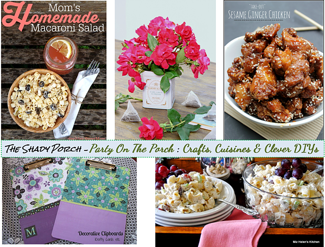 features from Party On The Porch: Crafts, Cuisines & Clever DIYs