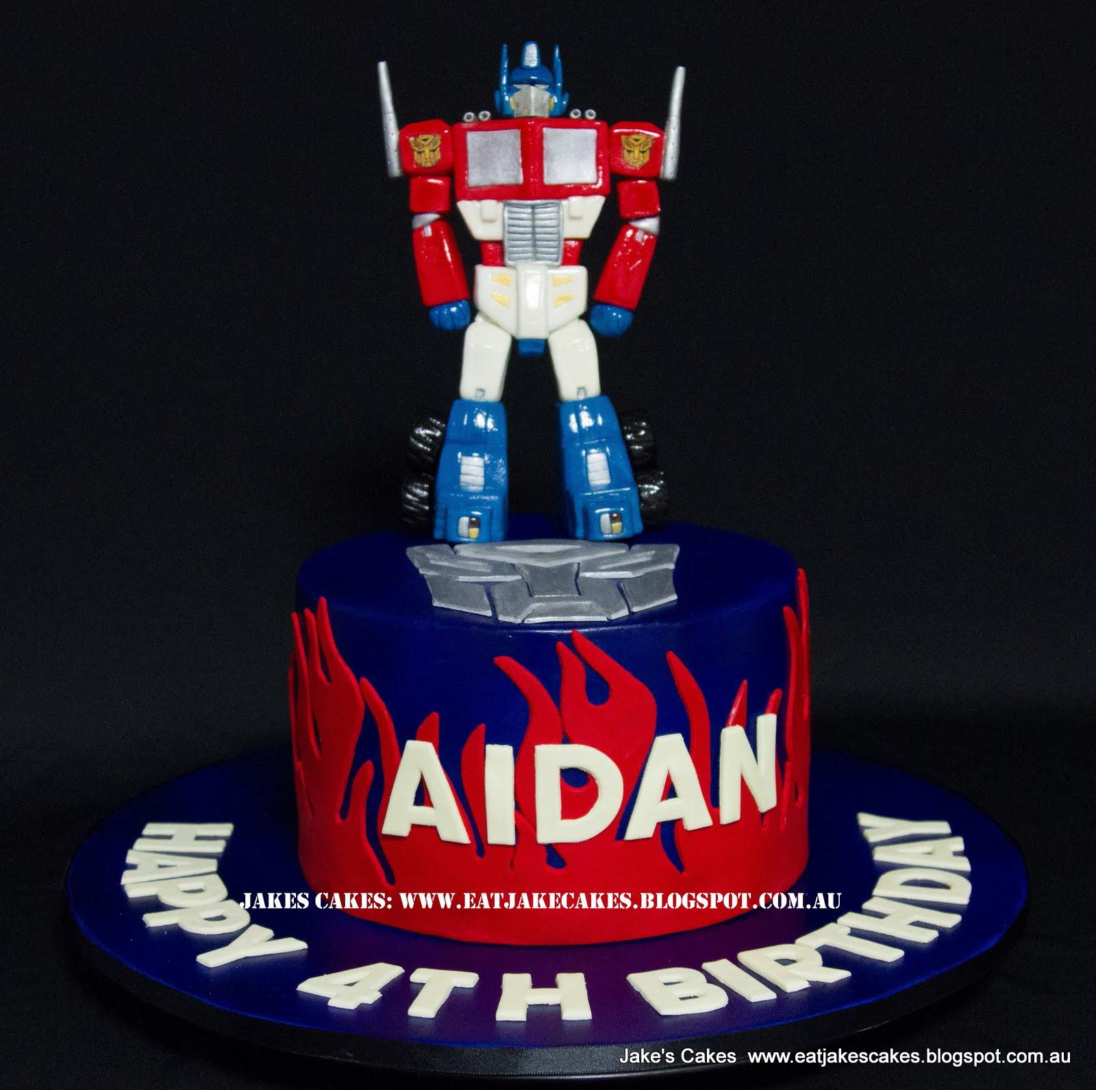 Optimus Prime Fondant Cake Topper