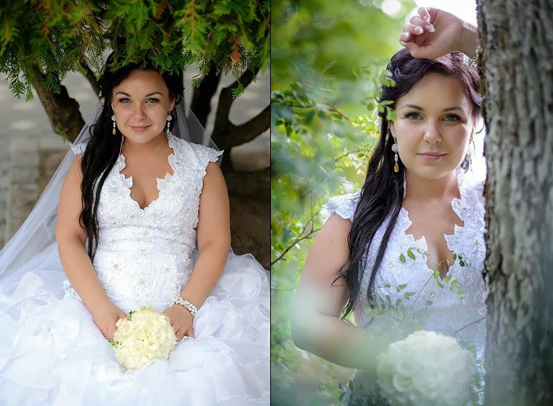 elegantiškos vestuvinės nuotraukos gamtoje
