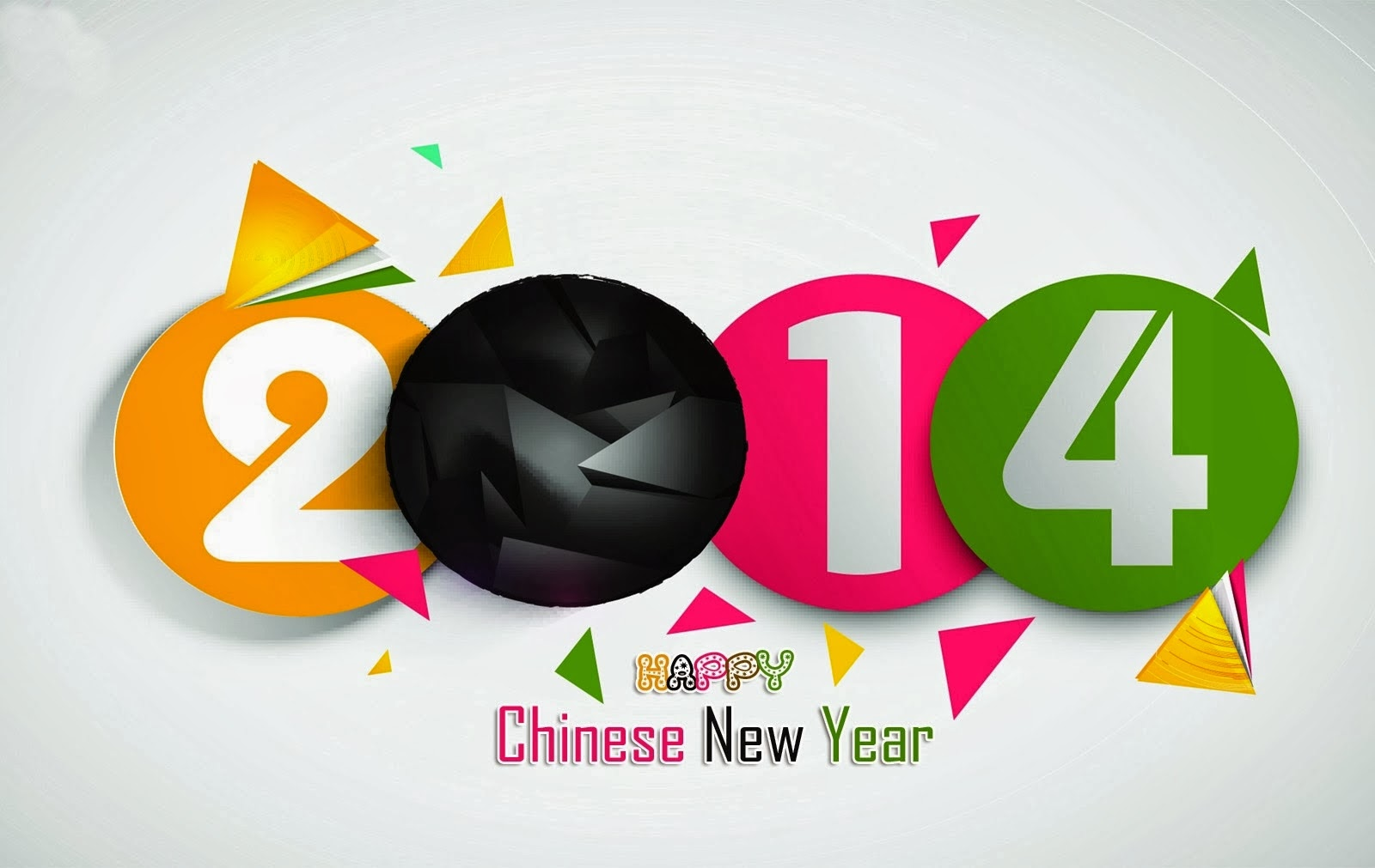 Happy New Year 2014 Wishes Wallpaper With Lunar New Year Greeting