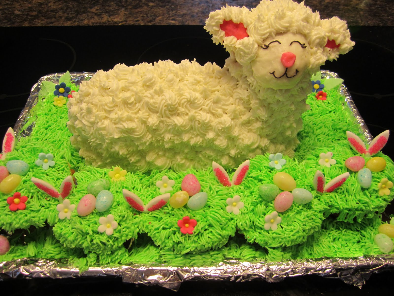 My Cake Blog: Easter Lamb Cake