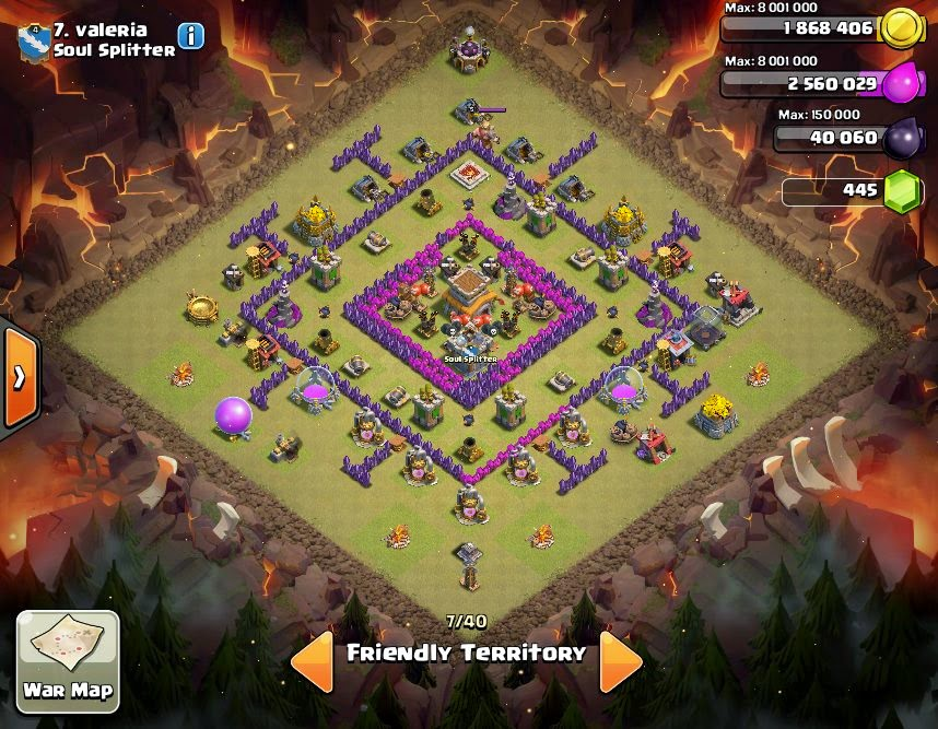 valeria - COC Clans War Base