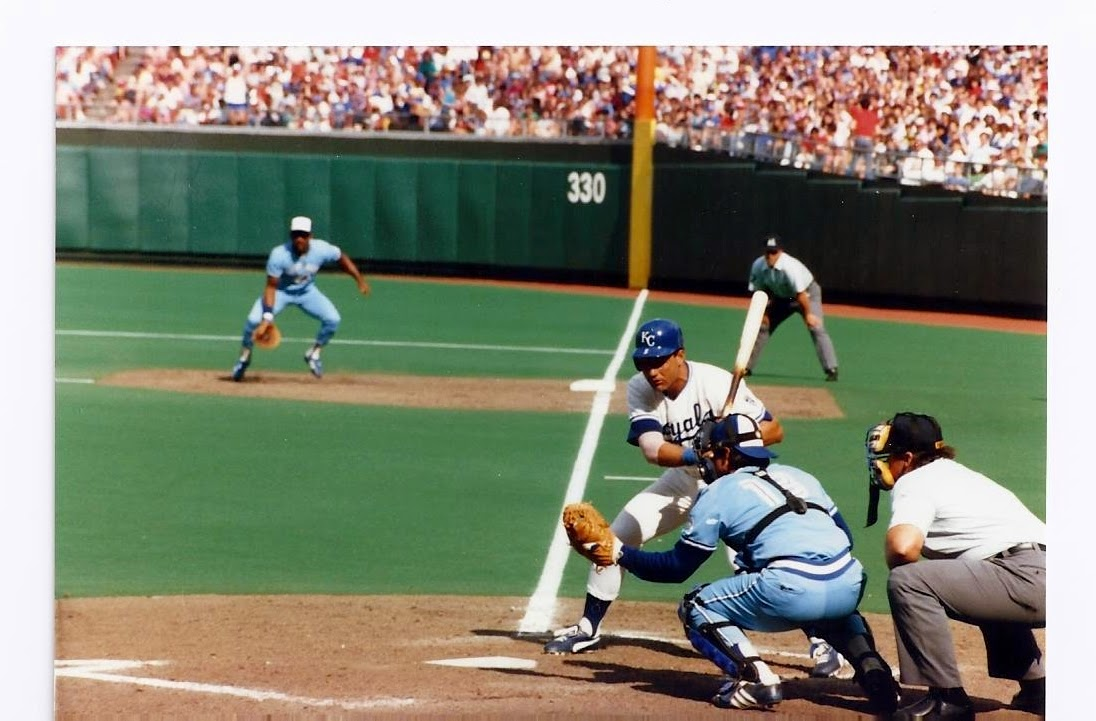 1985 ALCS With George Brett At The Plate Photo Courtesy Of Michael R Finley