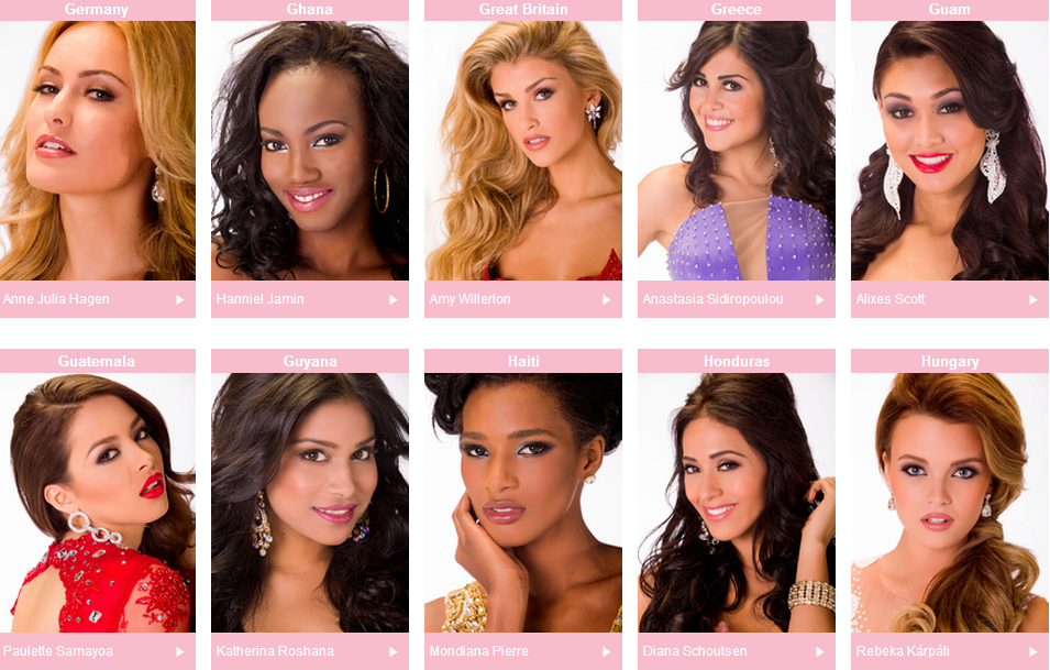 Miss Universe 2013 Poll  Vote for your favorites   Miss Universe 2013 Favorites