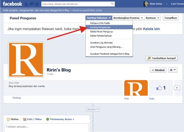 Fans Page Facebook Baru