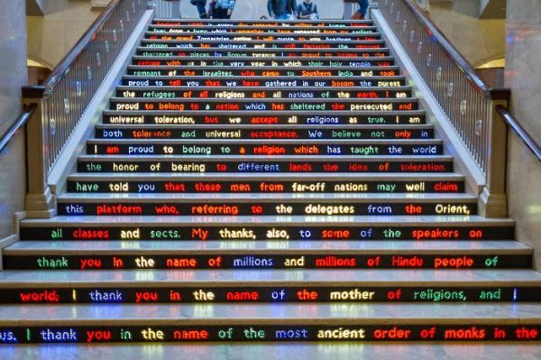 Art Institute of Chicago, Illinois - modern stairs