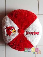Bantal angry Birds Merah