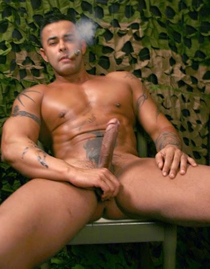 Nude cigar smoking love