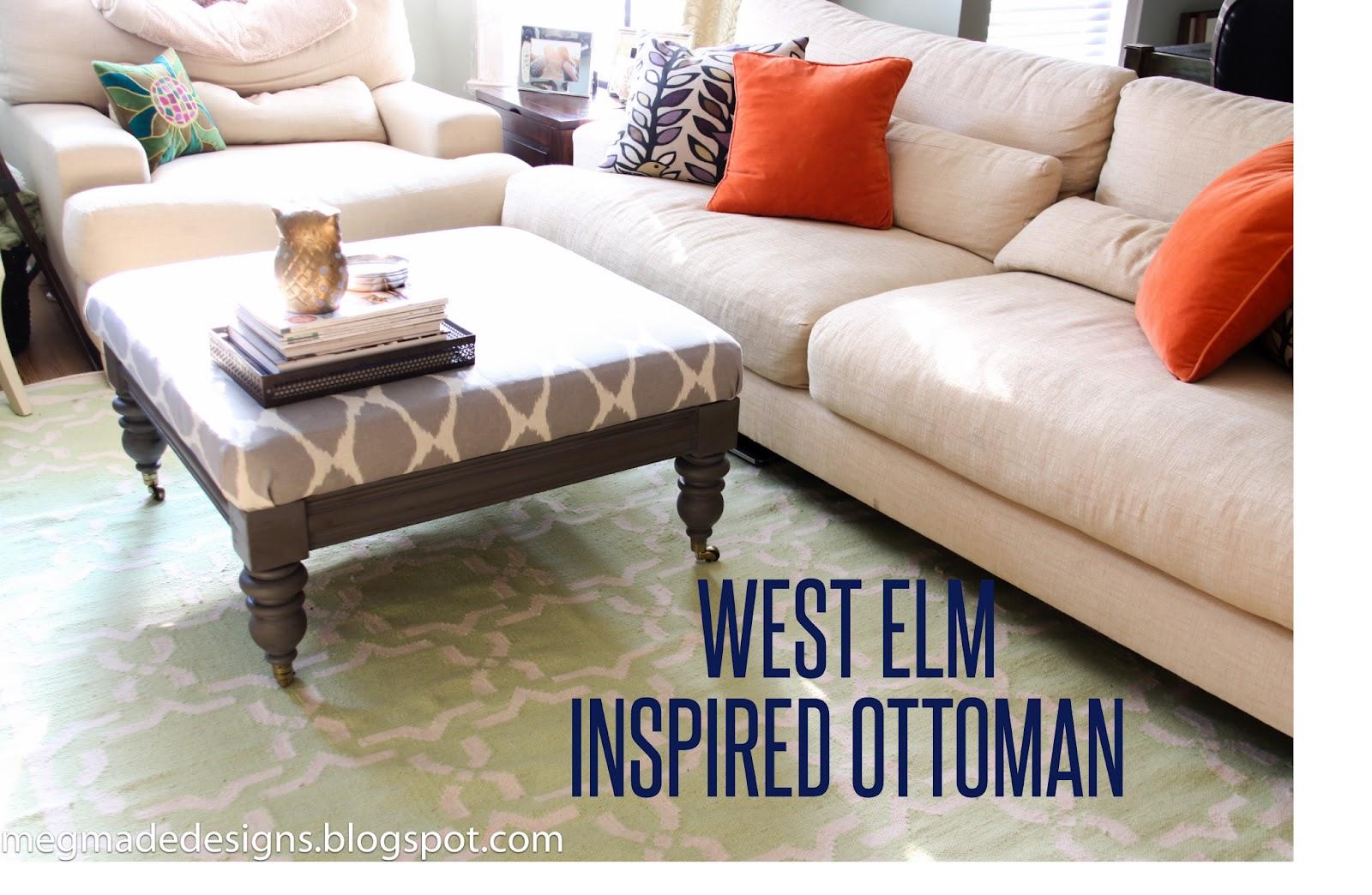 West Elm Ottoman Look Alike   make your own Annie Sloan Chalk ...