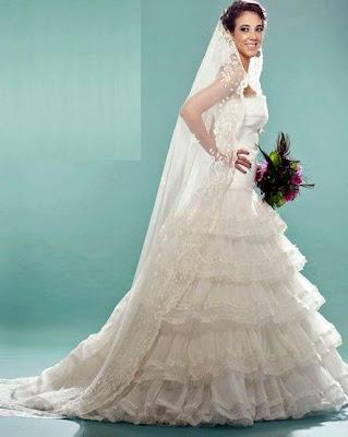 Chiara Pinasco con vestido de novia
