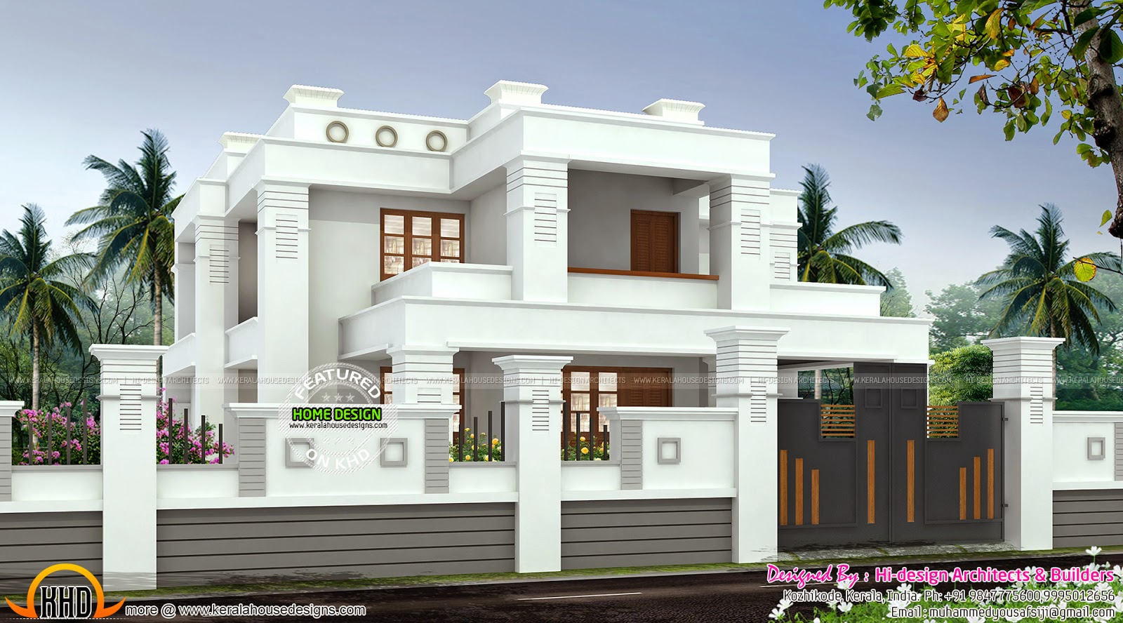 Home Flat Roof Style Kerala Home Design And Floor Plans