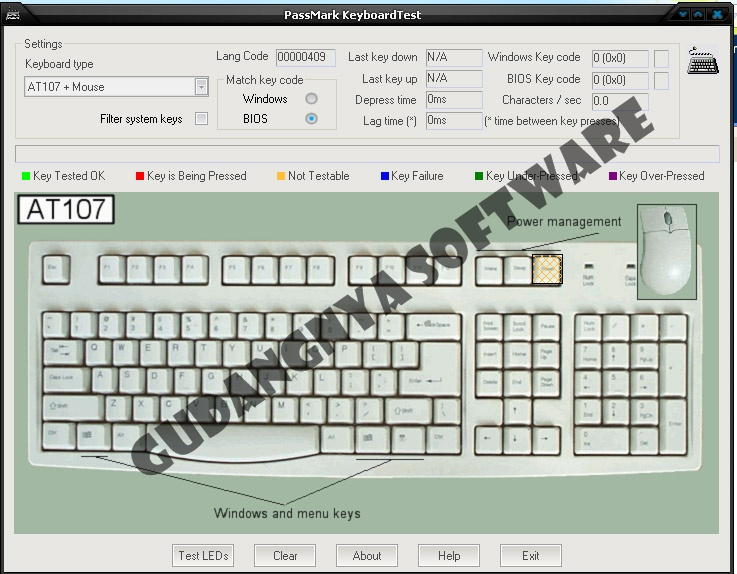 Keyboard test