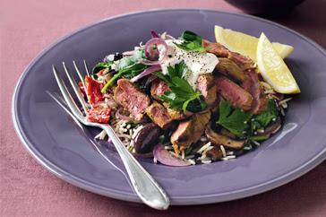 Middle-Eastern Lamb Salad Recipe