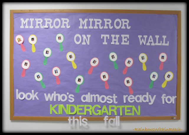 Bulletin Board for Preschool Graduation via RainbowsWithinReach