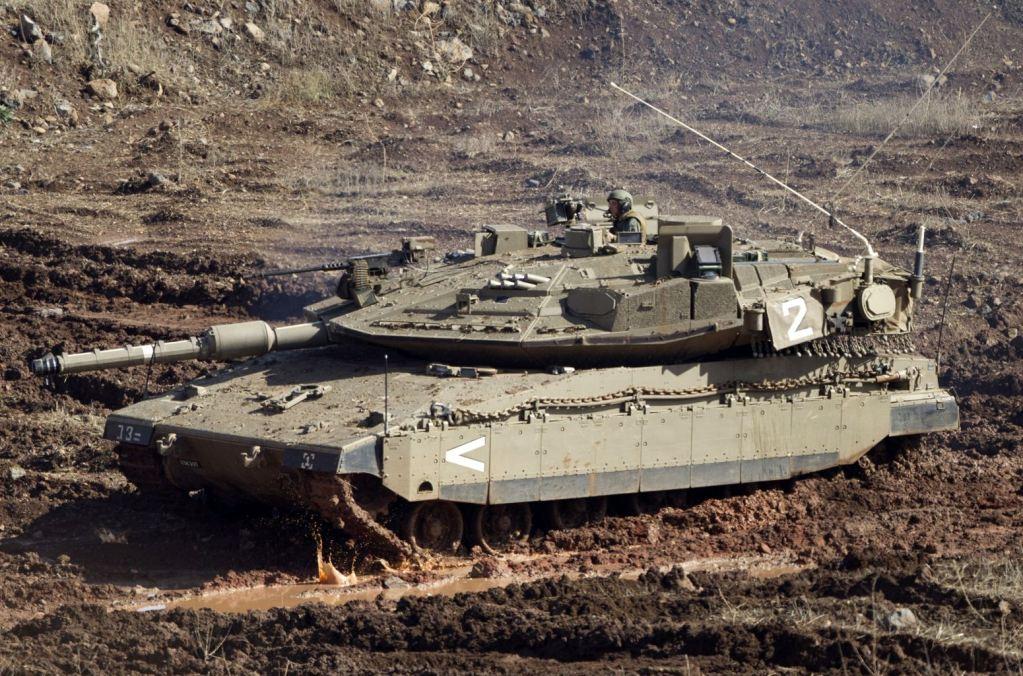 Israeli Merkava Main Battle Tank (MBT) in Golan Heights ...