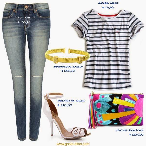 Navy com jeans
